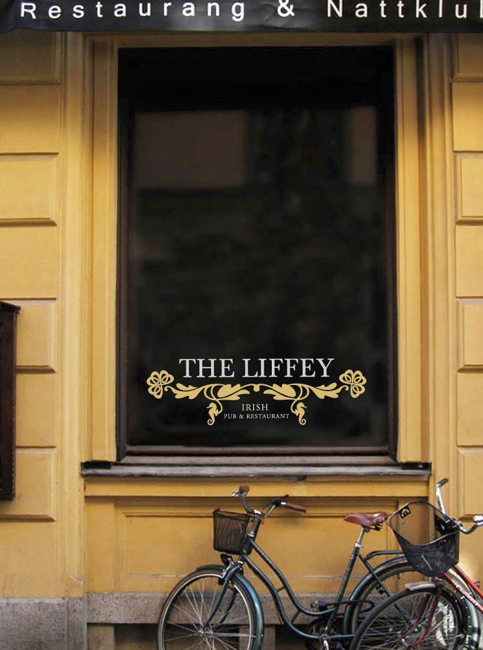 Fönsterdekaler - fönsterdekor The Liffey
