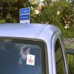 Parkeringsskiva med ditt företags logga